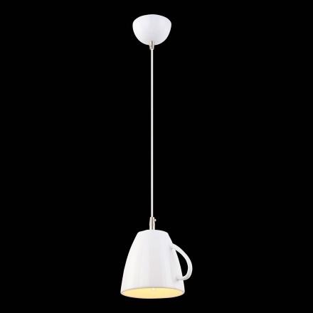Подвесной светильник в виде белой кружки