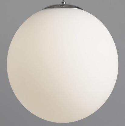 Подвесной светильник шар белый диаметр 30 см.