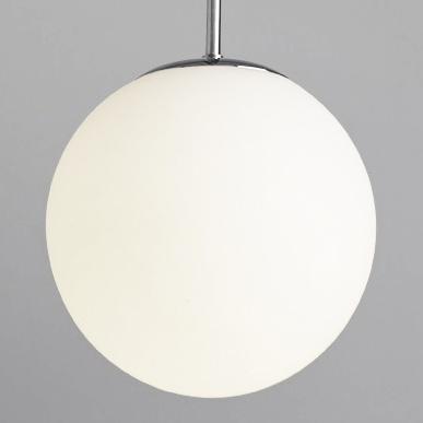 Подвесной светильник шар белый диаметр 20 см.