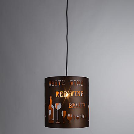 Подвесной светильник (коричневый)
