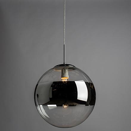 Подвесной светильник шар хром