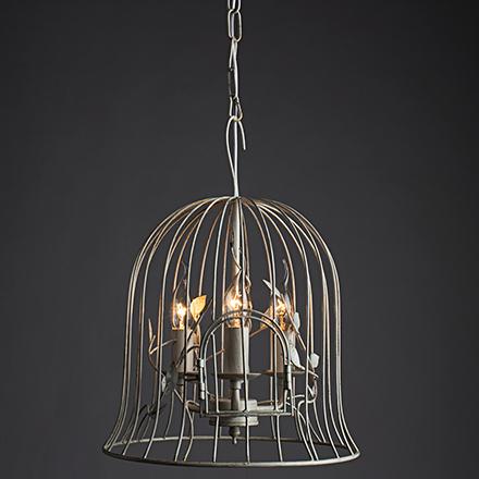 Gabbia 3: Подвесной светильник в виде клетки для птиц