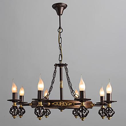 Cartwheel 8: Люстра в виде колеса со свечами