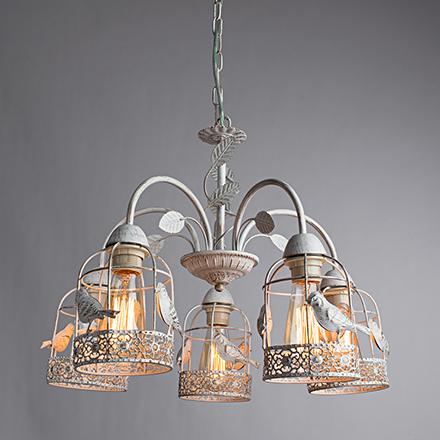 Cincia 5: Подвесной светильник (бело-золотой)