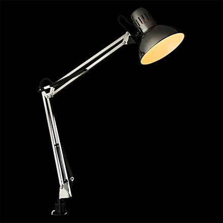 Senior 1: Настольная лампа на струбцине (хром)