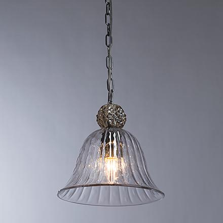 Подвесной светильник прозрачный (цвет хром/коньяк)