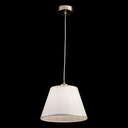 Подвесной светильник цвет белый и бронза антик [Фото №2]