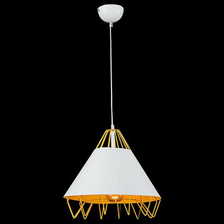 Подвесной светильник цвет желтый [Фото №2]