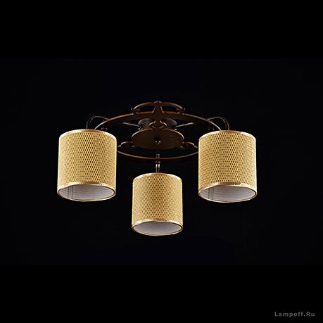 Потолочный светильник цвет коричневый [Фото №2]