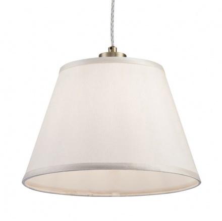 Белый классический подвесной абажур