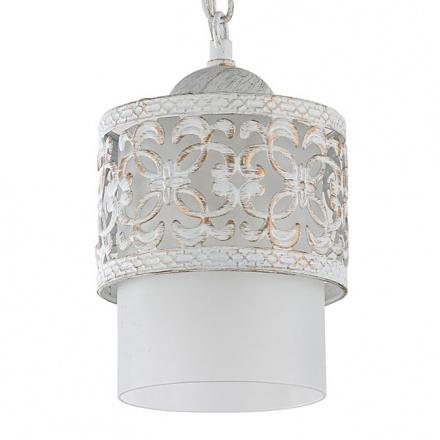 Подвесной светильник из стекла с металла чеканкой