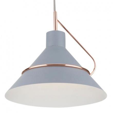 Подвесной светильник с плафоном (серый/белый и серый)
