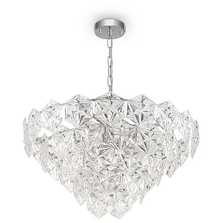 Подвесной светильник из стекла (хром/прозрачный)