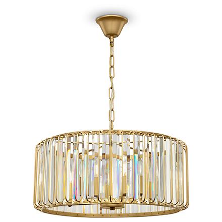 Подвесная абажур из стекла (золото)
