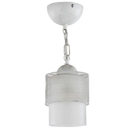 Подвесной белый плафон цилиндр в металле