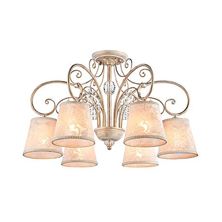 Потолочный светильник цвет белый с золотом [Фото №2]