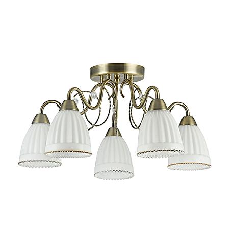 Classic Letizia 5: Потолочный светильник (цвет бронза)