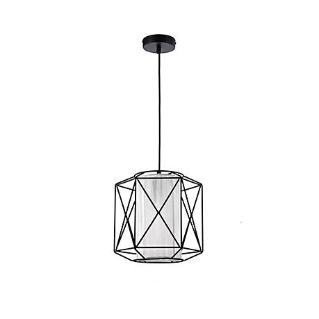 Подвесной светильник-абажур в обрешетке