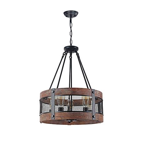 Подвесной светильник - бочка на 5 ламп