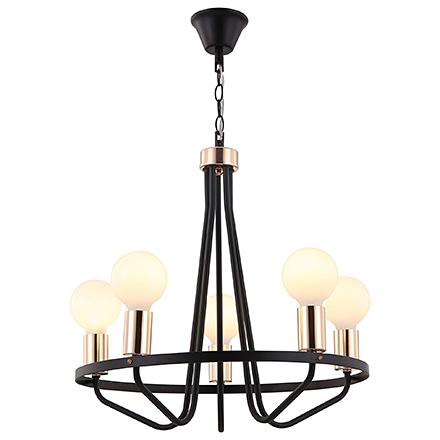 Modern Arabella 5: Люстра со свечами (черный)