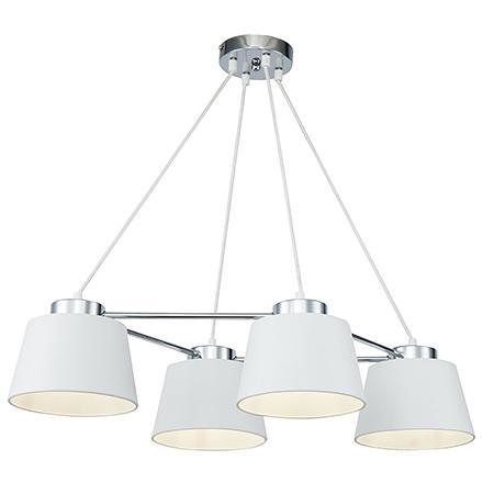 Подвесной светильник с плафонами (хром/матовый белый)