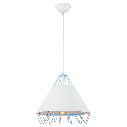 Подвесной светильник (синий/белый)