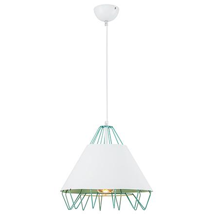 Подвесной светильник (зеленый/белый)