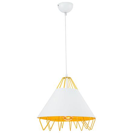 Подвесной светильник (желтый/белый)
