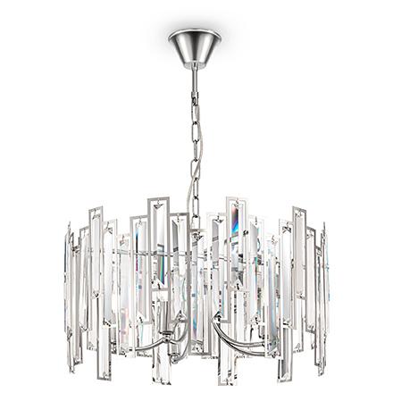 Подвесной светильник со стеклом (хром/прозрачный)
