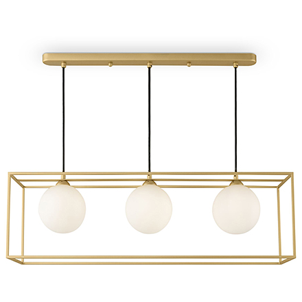 Подвесной светильник с плафонами (золото/белый)