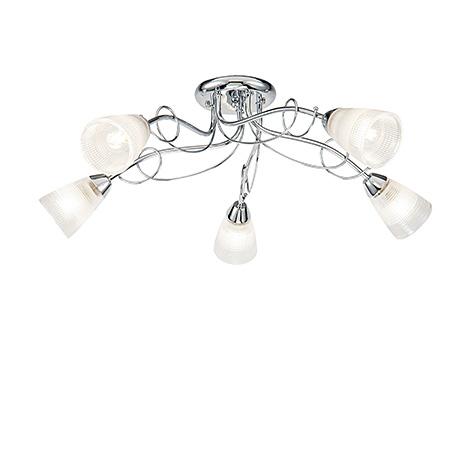 Modern Stasya 5: Потолочная люстра с плафонами белого цвета