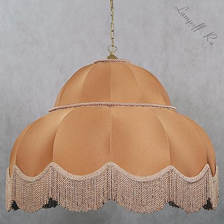 Большой подвесной ретро абажур бронзового цвета