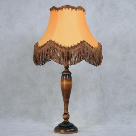 LN14-TR02-OR: Ретро лампа с оранжевым абажуром и бахромой