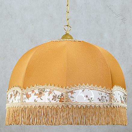 Подвесной абажур бронзового цвета с бахромой