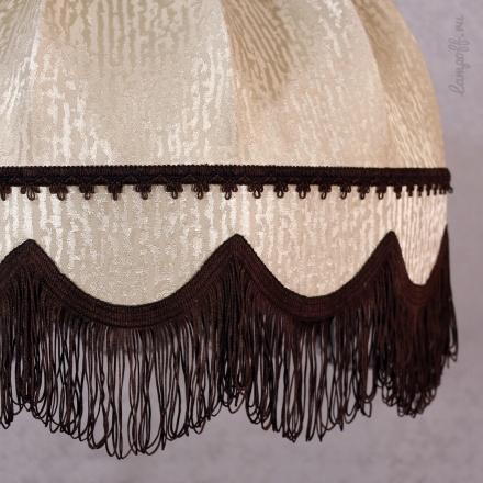 Подвесной абажур цвет капучино/коричневый [Фото №2]