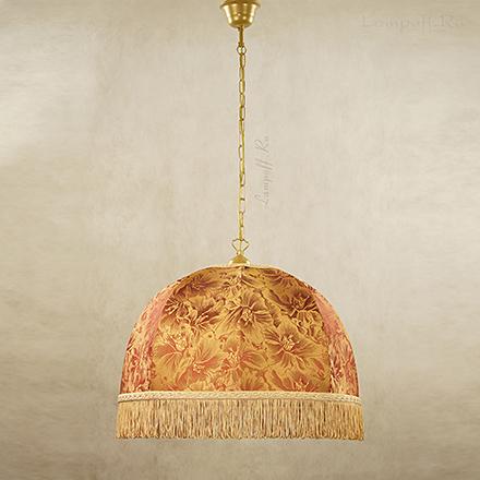 Подвесной абажур цвет терракотовый с золотом [Фото №2]