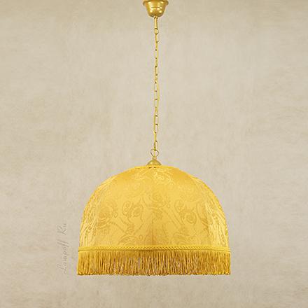 Подвесной абажур цвет желтый [Фото №2]