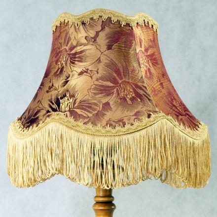 Настольная лампа цвет коричневый и бордовый с золотом [Фото №2]
