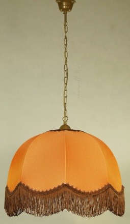 Подвесной абажур цвет оранжевый [Фото №2]