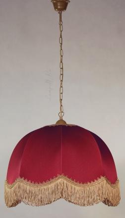 Подвесной абажур цвет бордовый [Фото №2]