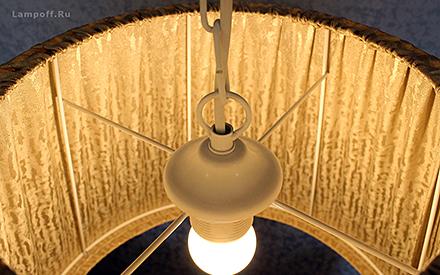Подвесной абажур стиль классический [Фото №3]