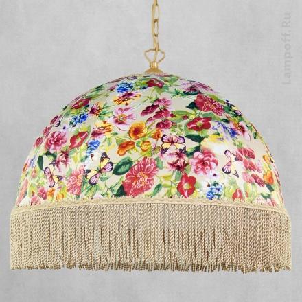 Подвесной абажур с пестрыми цветами