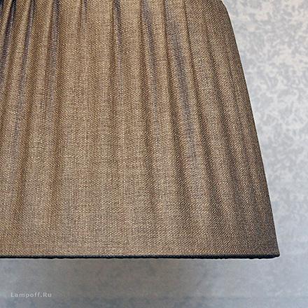 Подвесной абажур цвет коричневый [Фото №2]