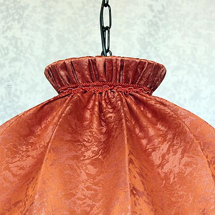 Подвесной абажур цвет терракотовый, кирпичный [Фото №2]