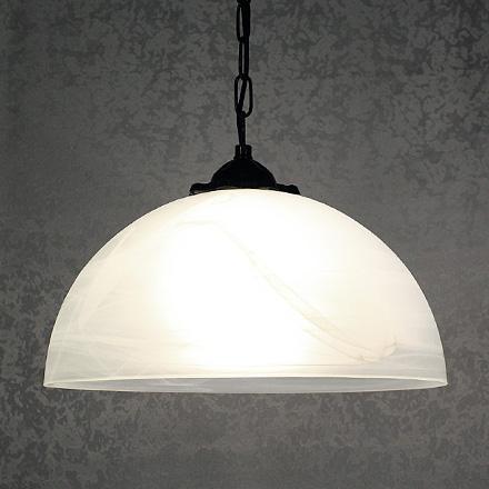 Белый гладкий подвесной плафон из стекла