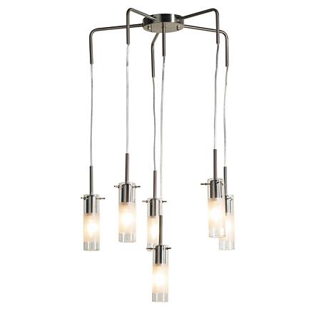 Подвесной светильник (цвет никель, прозрачный)