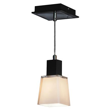 Подвесной светильник квадратный из стекла