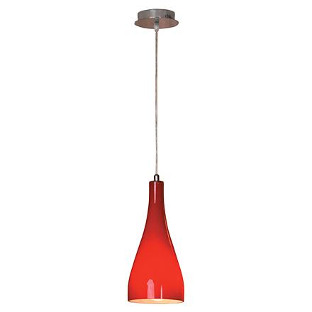 Подвесной плафон в стиле модерн (красный)