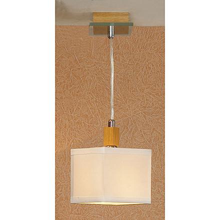 Подвесной светильник (цвет хром, дерево, белый)