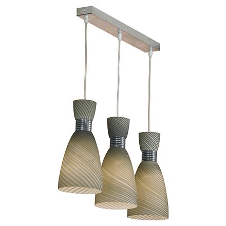 Подвесной светильник-планка на 3 лампы